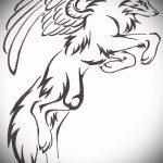эскиз тату волчица №316 - крутой вариант рисунка, который легко можно использовать для переделки и нанесения как тату волчица и волчата