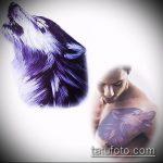 эскиз тату волчица №318 - классный вариант рисунка, который хорошо можно использовать для доработки и нанесения как тату волчица и волчата