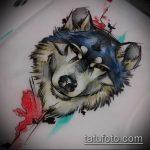 эскиз тату волчица №368 - эксклюзивный вариант рисунка, который хорошо можно использовать для преобразования и нанесения как тату волчица на запястье