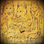 эскиз тату волчица №129 - эксклюзивный вариант рисунка, который удачно можно использовать для преобразования и нанесения как тату волчица на ноге