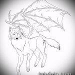 эскиз тату волчица №896 - достойный вариант рисунка, который удачно можно использовать для переработки и нанесения как тату волчица и луна