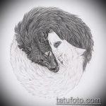 эскиз тату волчица №74 - эксклюзивный вариант рисунка, который успешно можно использовать для доработки и нанесения как тату волчица и волчата