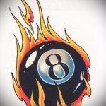 эскиз тату восемь №501 - классный вариант рисунка, который хорошо можно использовать для преобразования и нанесения как татуировка 8 шар