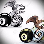 эскиз тату восемь №701 - интересный вариант рисунка, который удачно можно использовать для доработки и нанесения как тату 8 в круге