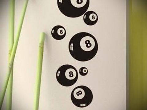 эскиз тату восемь №573 - крутой вариант рисунка, который хорошо можно использовать для преобразования и нанесения как tattoo 8 ball designs