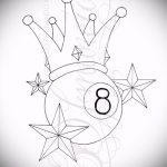 эскиз тату восемь №264 - классный вариант рисунка, который успешно можно использовать для доработки и нанесения как тату 8 на пальце