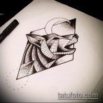 эскиз тату воющий волк №404 - крутой вариант рисунка, который легко можно использовать для переработки и нанесения как тату воющий волк на спине