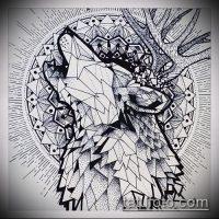 Эскизы тату воющий волк