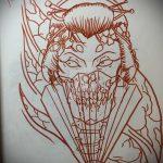 эскиз тату гейша №780 - достойный вариант рисунка, который легко можно использовать для переработки и нанесения как тату гейша убийца