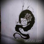 эскиз тату гейша №708 - достойный вариант рисунка, который удачно можно использовать для переработки и нанесения как тату гейша убийца