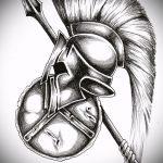 эскиз тату гладиатор №1 - прикольный вариант рисунка, который легко можно использовать для преобразования и нанесения как тату гладиатор спартак
