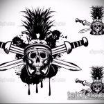 эскиз тату гладиатор №155 - прикольный вариант рисунка, который легко можно использовать для преобразования и нанесения как тату гладиатор спартака