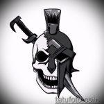 эскиз тату гладиатор №323 - эксклюзивный вариант рисунка, который хорошо можно использовать для переработки и нанесения как тату гладиаторы на икре