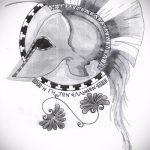 эскиз тату гладиатор №150 - прикольный вариант рисунка, который легко можно использовать для переработки и нанесения как тату гладиатор с цепью