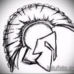 эскиз тату гладиатор №224 - уникальный вариант рисунка, который хорошо можно использовать для переделки и нанесения как тату гладиатор из фильма