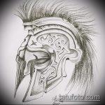 эскиз тату гладиатор №434 - классный вариант рисунка, который легко можно использовать для доработки и нанесения как тату гладиатор спартака