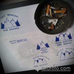 эскиз тату горы №426 - достойный вариант рисунка, который удачно можно использовать для доработки и нанесения как тату горы и лес