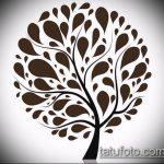 эскиз тату дерево №463 - эксклюзивный вариант рисунка, который легко можно использовать для доработки и нанесения как тату дерево на ноге