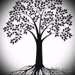 эскиз тату дерево №48 - классный вариант рисунка, который успешно можно использовать для преобразования и нанесения как эскизы тату лес деревья