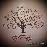 эскиз тату дерево №332 - классный вариант рисунка, который хорошо можно использовать для переработки и нанесения как тату деревья на боку