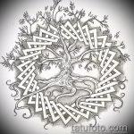 эскиз тату дерево №944 - интересный вариант рисунка, который легко можно использовать для доработки и нанесения как эскизы тату лес деревья