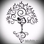 эскиз тату дерево №886 - интересный вариант рисунка, который успешно можно использовать для переработки и нанесения как тату дерево ель