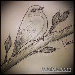 эскиз тату дерево №686 - достойный вариант рисунка, который успешно можно использовать для переделки и нанесения как тату дерево на ноге