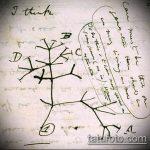 эскиз тату дерево №740 - эксклюзивный вариант рисунка, который легко можно использовать для преобразования и нанесения как тату деревья на предплечье