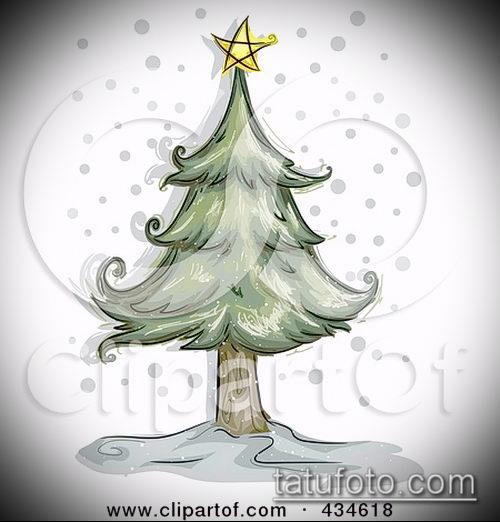 эскиз тату дерево №270 - достойный вариант рисунка, который успешно можно использовать для доработки и нанесения как тату дерево на руке