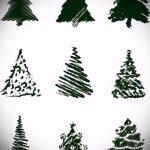 эскиз тату дерево №515 - прикольный вариант рисунка, который удачно можно использовать для преобразования и нанесения как тату сухое дерево