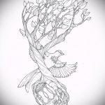 эскиз тату дерево №221 - крутой вариант рисунка, который удачно можно использовать для переработки и нанесения как тату дерево на руке мужские