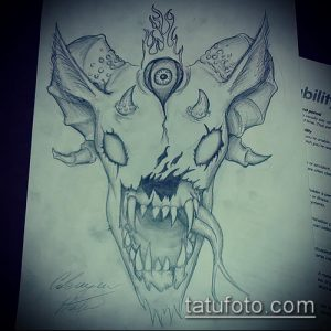 эскиз тату козел №387 - достойный вариант рисунка, который легко можно использовать для переработки и нанесения как тату череп козла