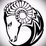 эскиз тату козел №800 - достойный вариант рисунка, который успешно можно использовать для преобразования и нанесения как тату козел на запястье
