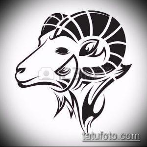 эскиз тату козел №131 - уникальный вариант рисунка, который удачно можно использовать для переделки и нанесения как тату козел олдскул