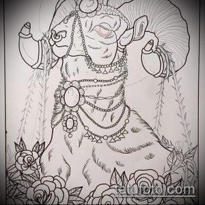 эскиз тату козел №298 - прикольный вариант рисунка, который хорошо можно использовать для переработки и нанесения как тату козел и ножи атомы