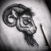 Эскизы тату козел