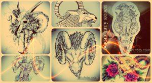 Эскизы тату козел - классные татуировки для вашей уникальной татуировки с козлом
