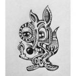 эскиз тату белка №17 - достойный вариант рисунка, который хорошо можно использовать для доработки и нанесения как тату белка и стрелка