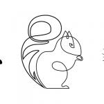 эскиз тату белка №781 - интересный вариант рисунка, который хорошо можно использовать для переработки и нанесения как тату белка ездит в такси
