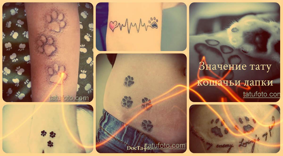 Значение тату кошачьи лапки - варианты оригинальных рисунков для татуировки