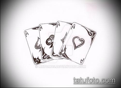 Тату 4 туза (значение) - пример интересного рисунка тату - 007 tatufoto.com