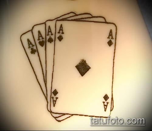 Тату 4 туза (значение) - пример интересного рисунка тату - 008 tatufoto.com
