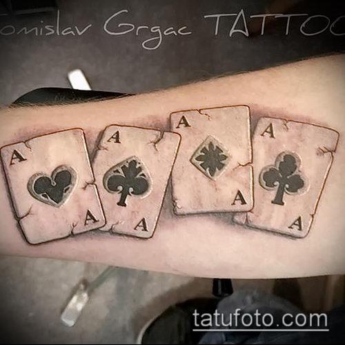 Тату 4 туза (значение) - пример интересного рисунка тату - 018 tatufoto.com