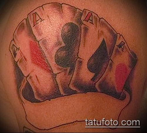 Тату 4 туза (значение) - пример интересного рисунка тату - 038 tatufoto.com