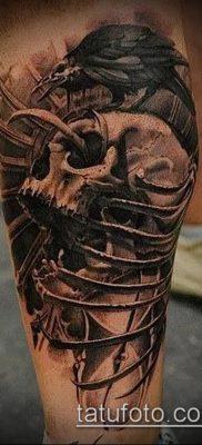 ворон на черепе тату (значение) – пример интересного рисунка тату – 004 tatufoto.com