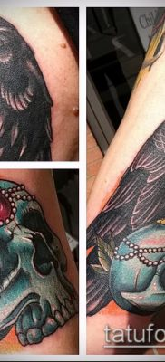 ворон на черепе тату (значение) – пример интересного рисунка тату – 010 tatufoto.com