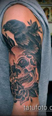 ворон на черепе тату (значение) – пример интересного рисунка тату – 011 tatufoto.com