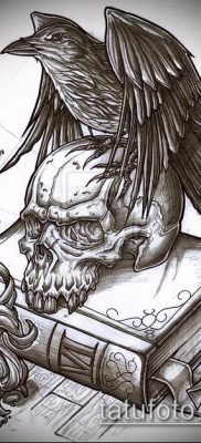 ворон на черепе тату (значение) – пример интересного рисунка тату – 012 tatufoto.com