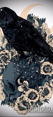 ворон на черепе тату (значение) – пример интересного рисунка тату – 014 tatufoto.com