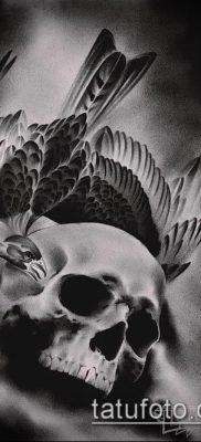 ворон на черепе тату (значение) – пример интересного рисунка тату – 015 tatufoto.com